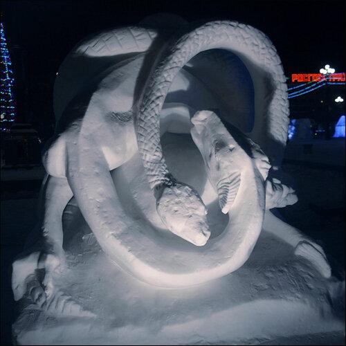 Снежные фигуры в Хабаровске