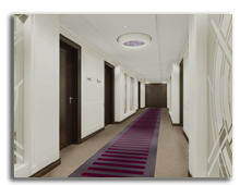 ОАЭ. Дубаи. Le Meridien Mina Seyahi Beach Resort & Marina. Corridor - rendering