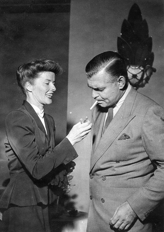 Katharine HEPBURN und Clark GABLE