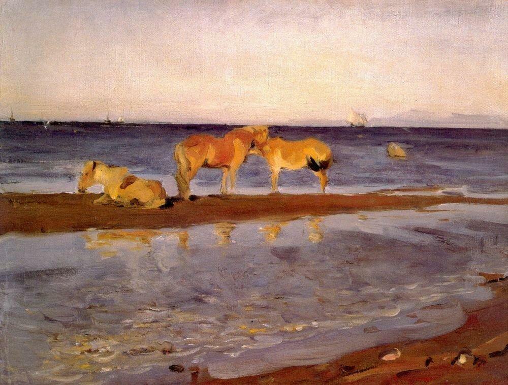 Лошади на взморье. 1905.jpg