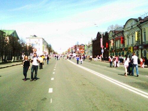 Проспект Красной Армии 9 мая 2013