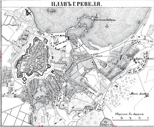 Генплан города Ревеля на 1876 год