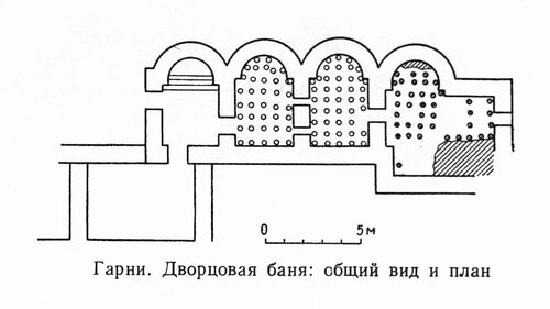 Дворцовая баня в Гарни, план