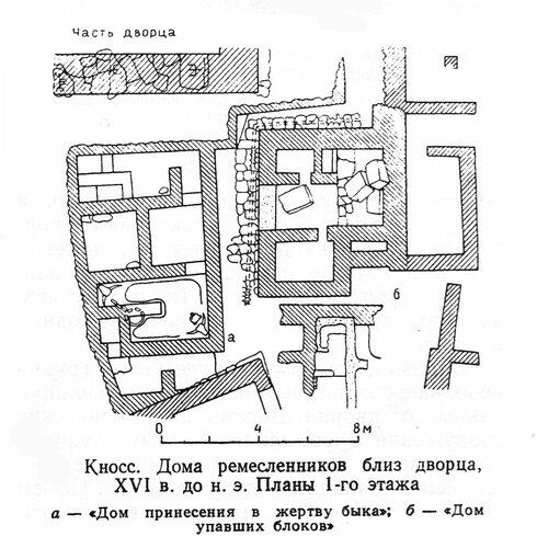 Дом ремесленников в Кноссе, план