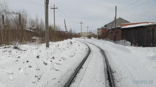 Фото города Инта №3986 Железная дорога на ТЭЦ в районе переезда на улице Мартовской (Школьная 1