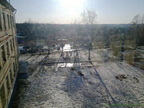 Вид из окна родной школы