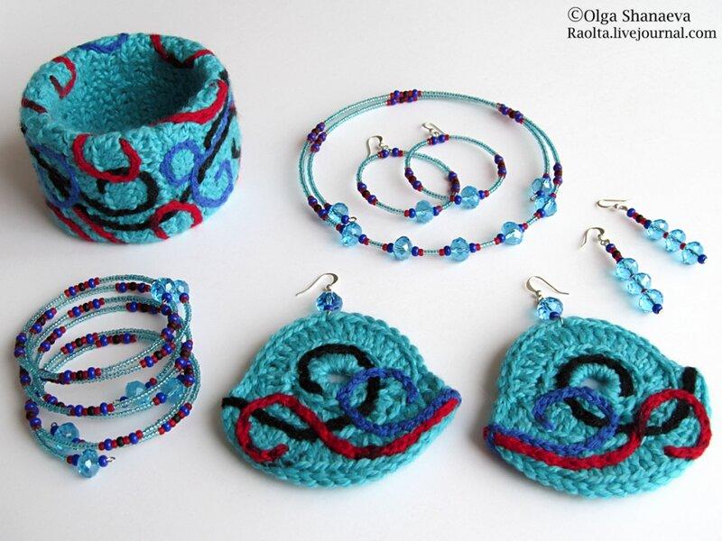 Сережки крупные (вязание