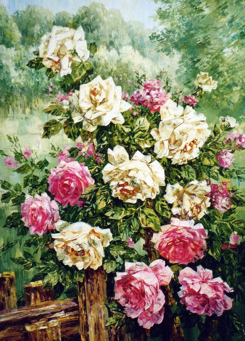 Розы с астрами букет фото 7