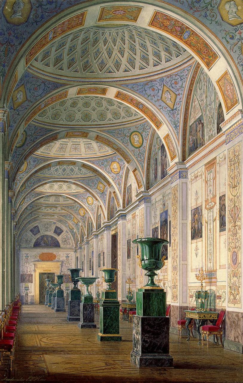 Интерьеры Нового Эрмитажа. Галерея истории древней живописи