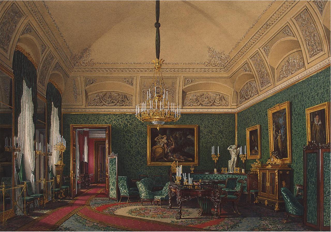 Интерьеры Зимнего дворца. Небольшой кабинет великой княгини Марии Николаевны