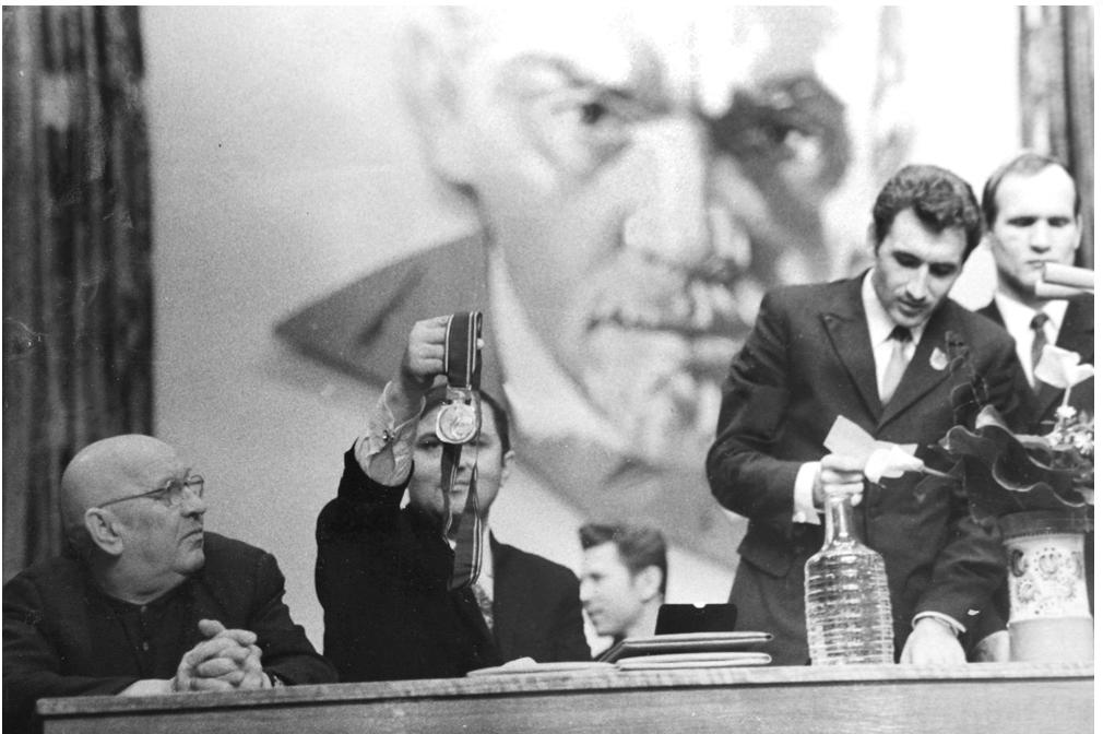 Чествование олимпийского чемпиона Ивана Бякова. 1972 г.