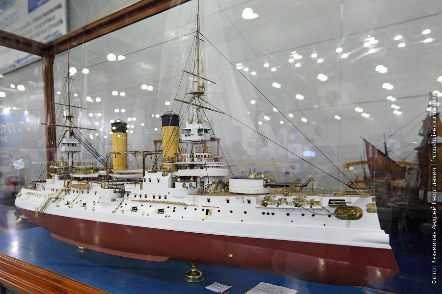 Броненосец «Цесаревич» масштабная модель
