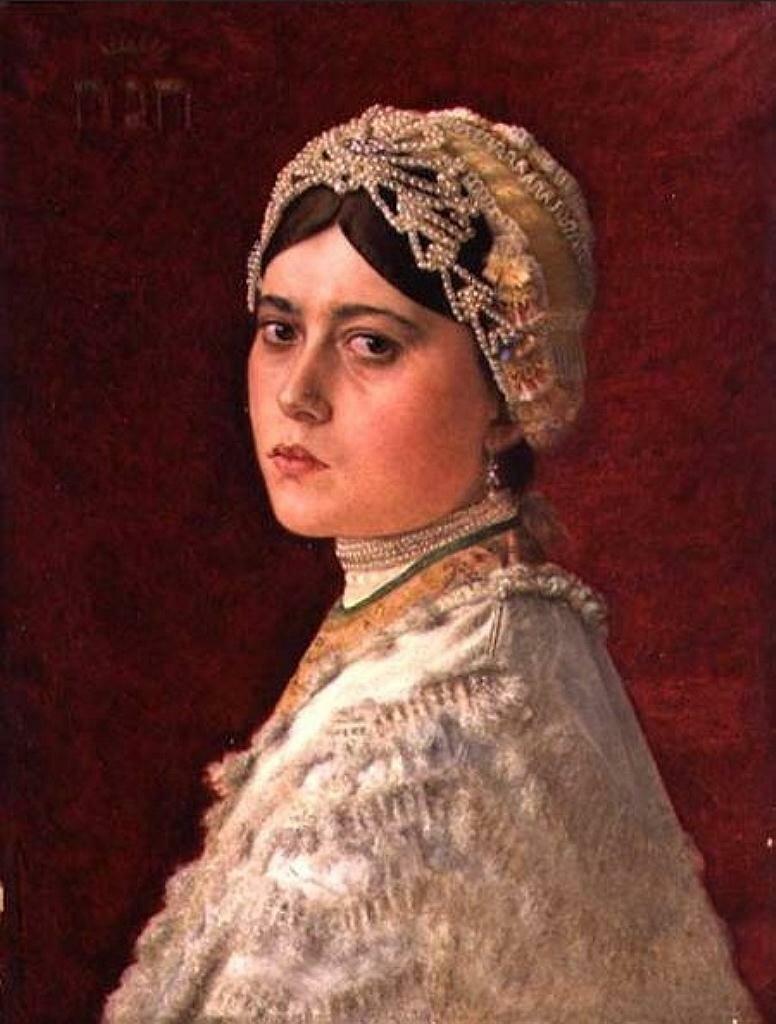 Портрет дочери художника, Ханна__Кауфман Исидор(1853–1921)