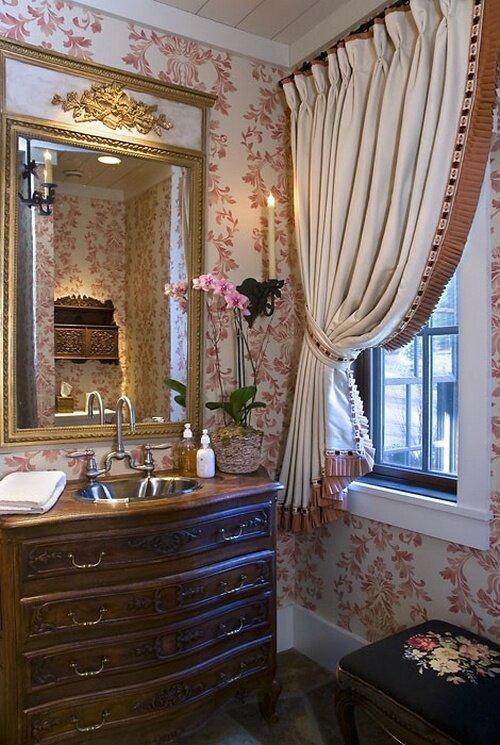 Шторы на маленькое окно в ванную