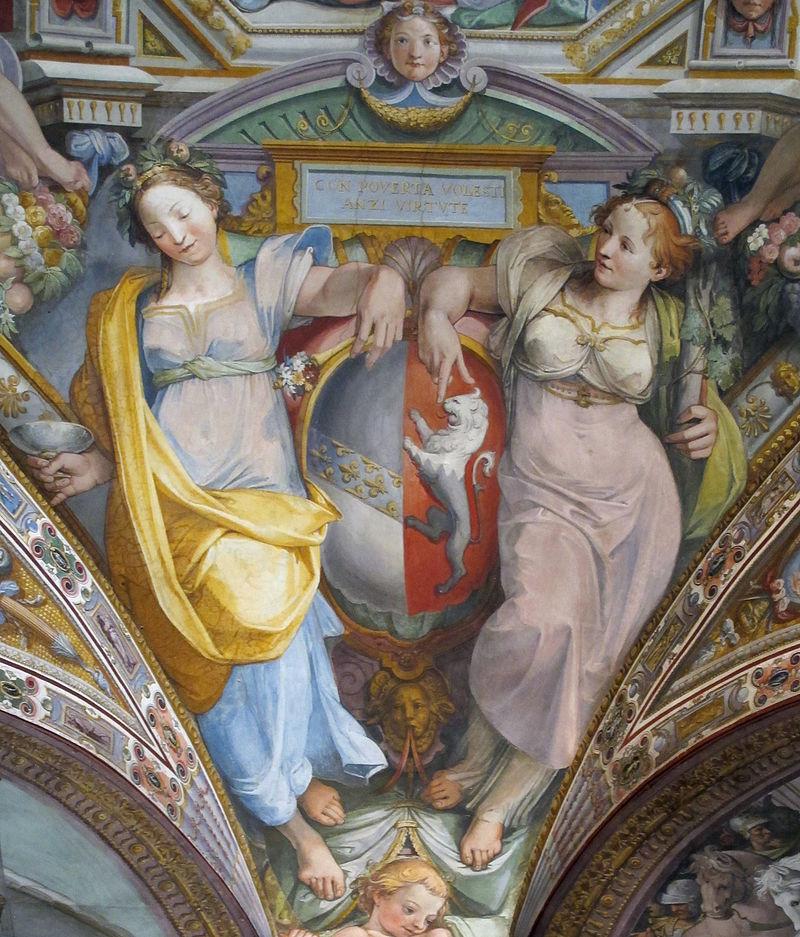 Palazzo_capponi-vettori,_salone_poccetti,_pennacchio_con_stemma_vettori_davanzati,_2.JPG