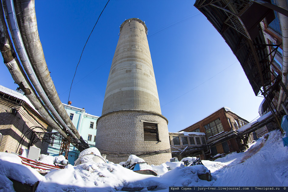 Самая огромная, бывшая водонапорная башня в Твери