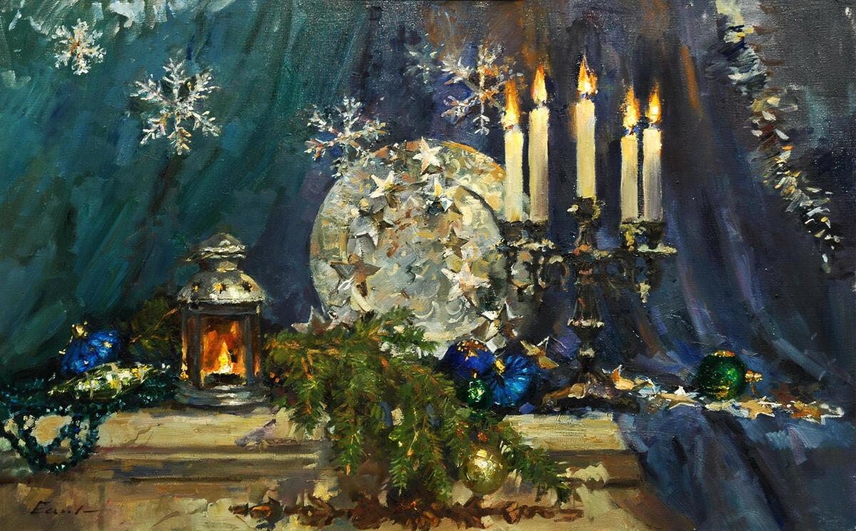 Картинки по запросу новый год живопись снеговик