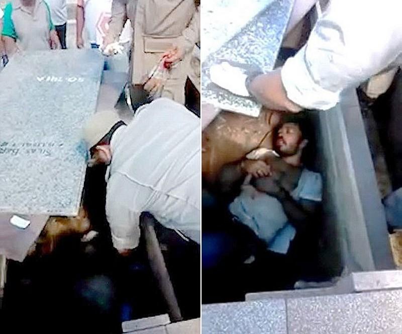 Мужчину похоронили заживо в семейной могиле