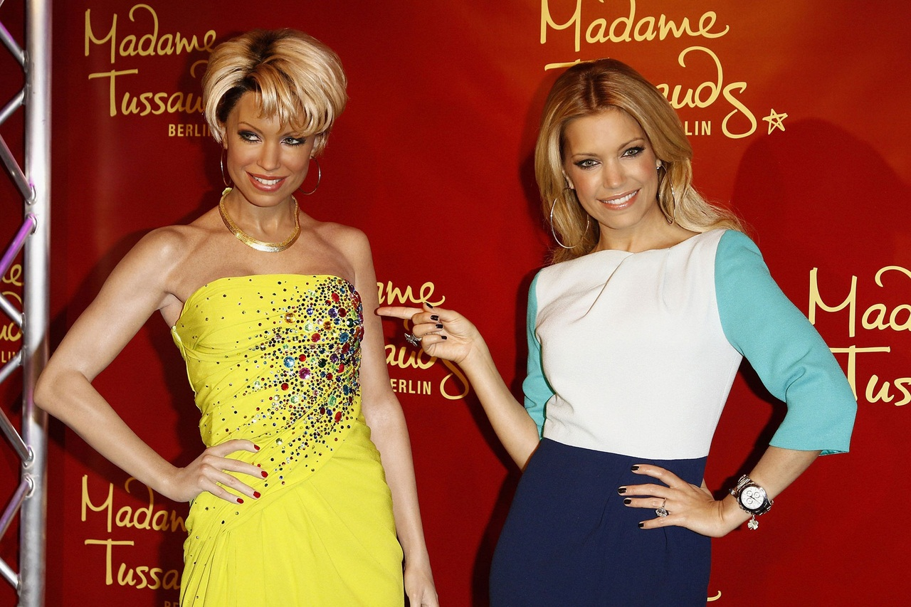 SYLVIE Van Der VAART at Wax Figure Unveiling