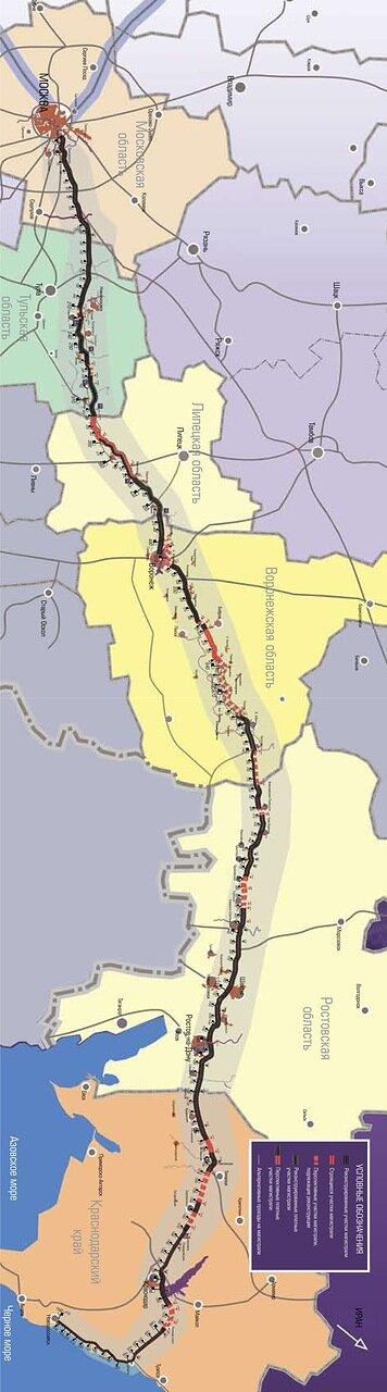 М4 Дон карта километраж схема км