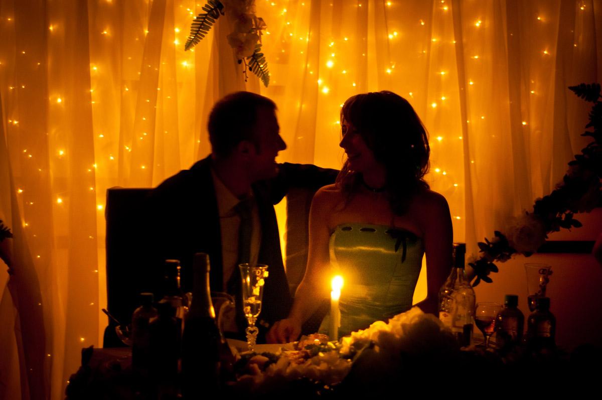 Молодые при свечах