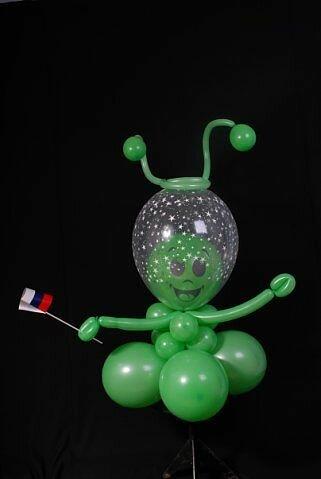 Как сделать планету из воздушных шаров