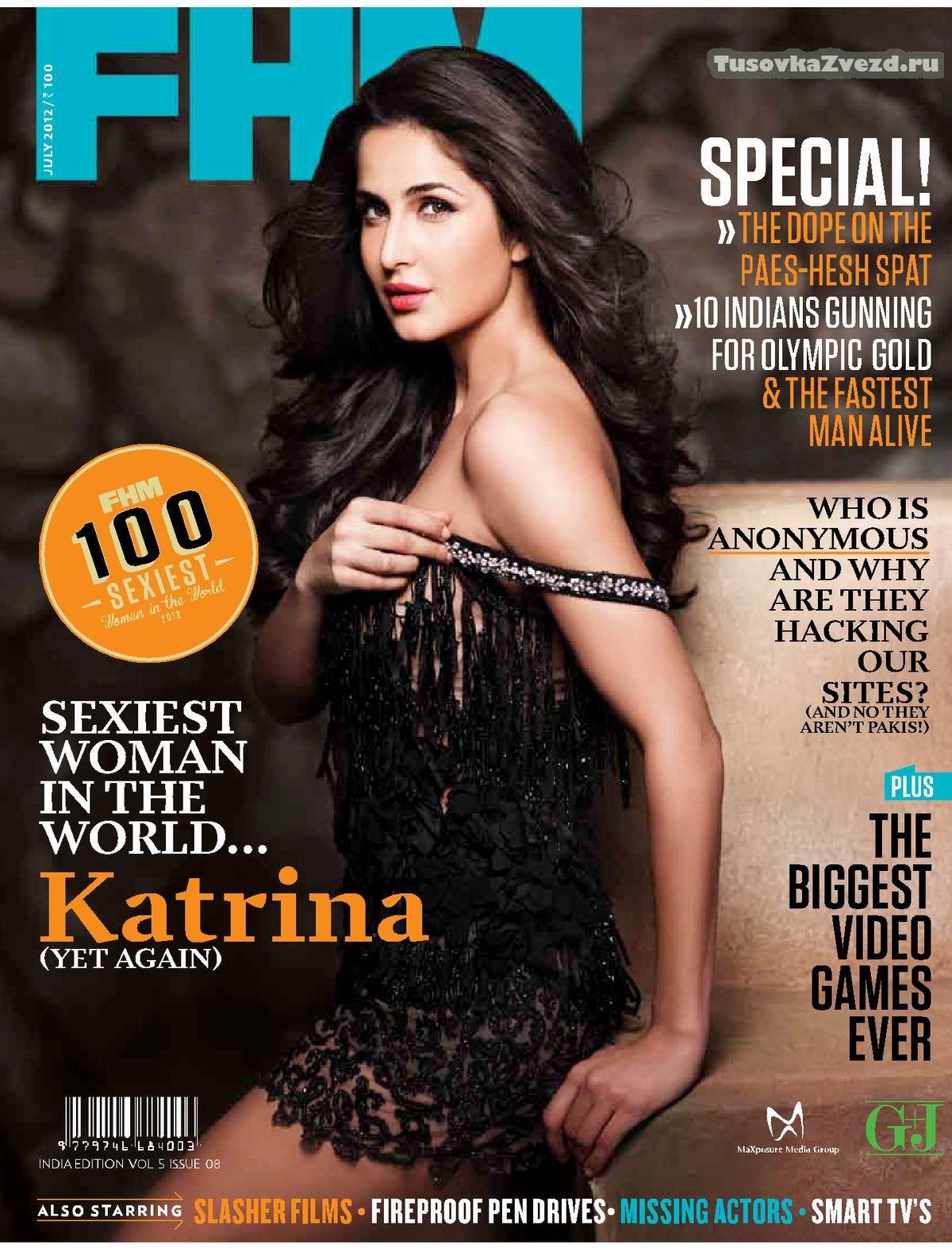 Катрина Кэйф (Katrina Kaif) фото в журнале FHM Индия, июль 2012