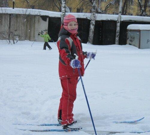 Первый раз на лыжах