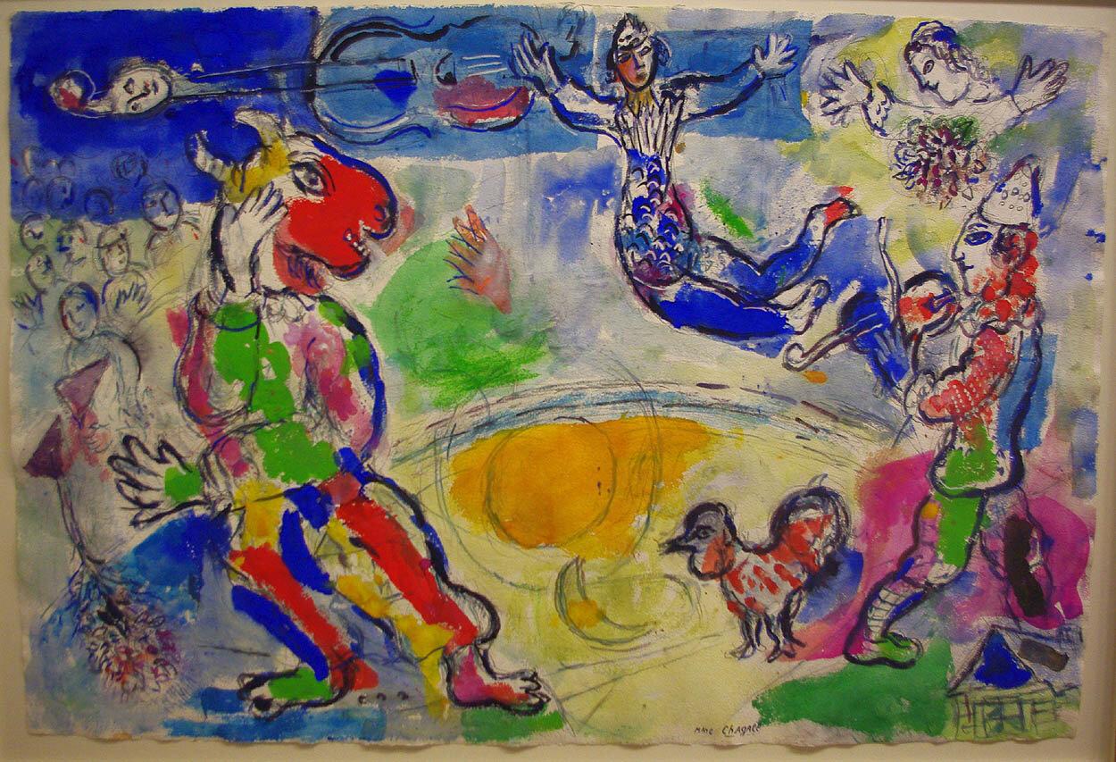 Марк Шагал. Большой цирк. 1970