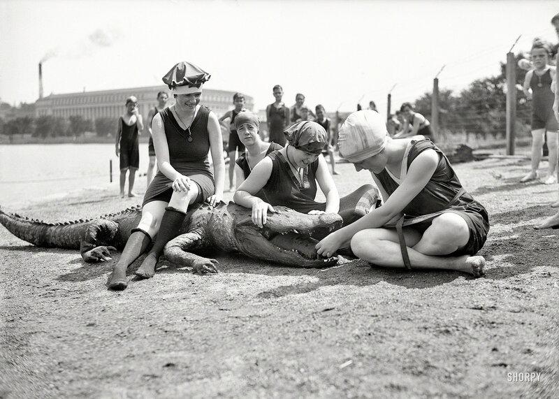 Washington, D.C., circa 1924. Tidal Basin bathing girls