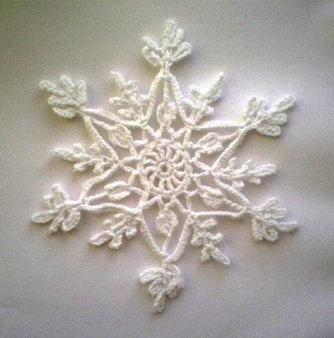 Снежинка вязаная крючком