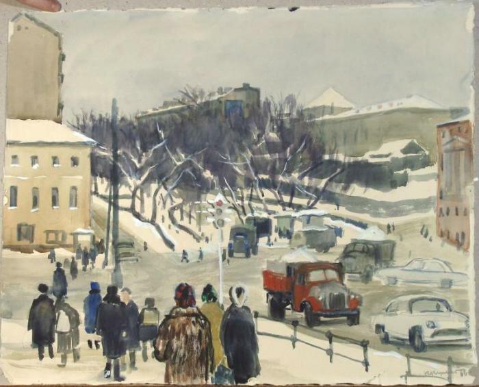 Ксения Купецио. Трубная площадь, 1966.