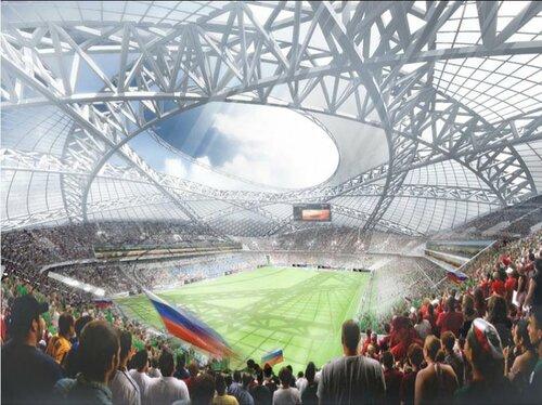 Проект стадиона в Самаре к Чемпионату мира по футболу 2018, интерьер