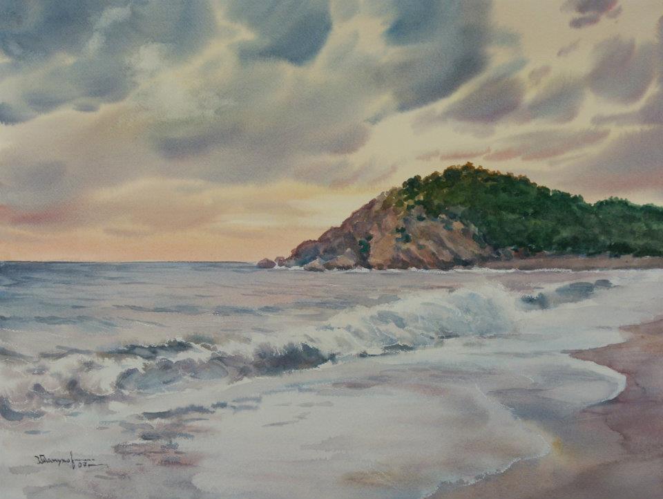 Спускаюсь к морю…Акварели Игоря Манухова