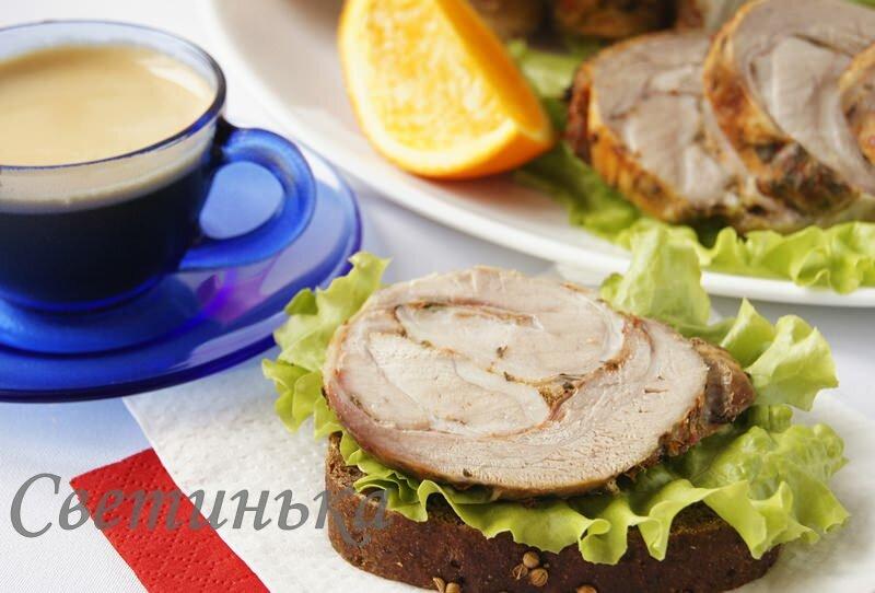 как приготовить из свинины мясной рулет