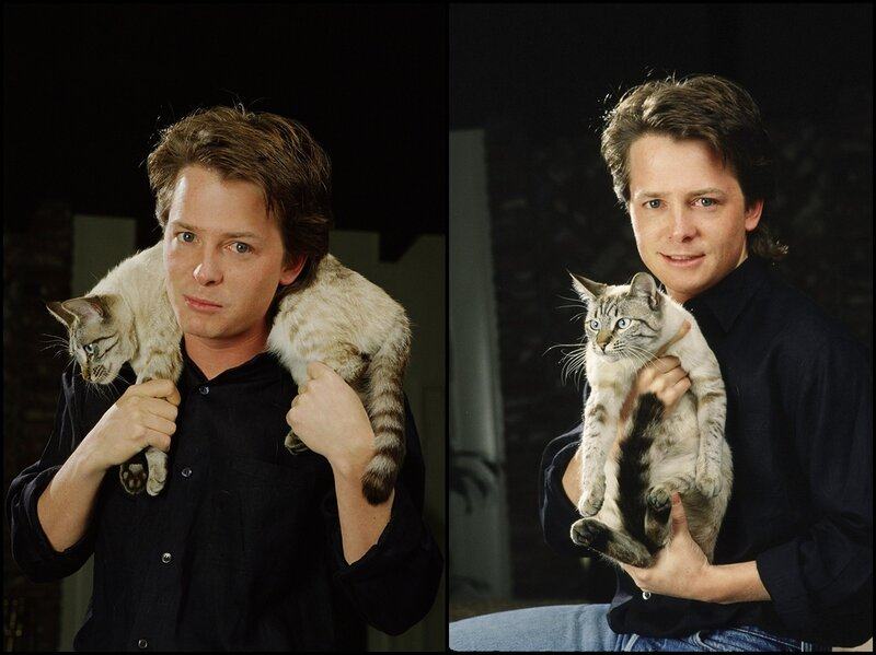 Actor Michael J. Fox Portrait Session