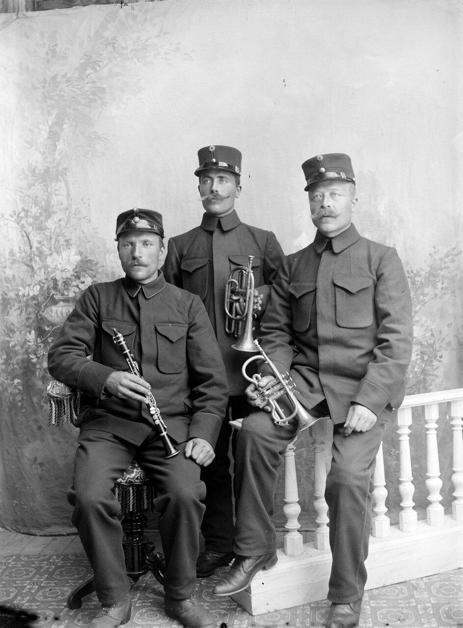 Три норвежских солдата, ок. 1890-1910