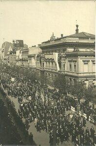 Торжественный поход в годовщину введения конституции 3 мая в 1794 г. в Польше