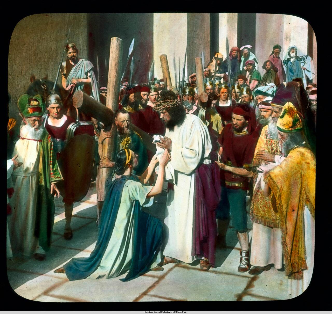 Обераммергау. Страсти Христовы. Вероника вытирает лицо Христу