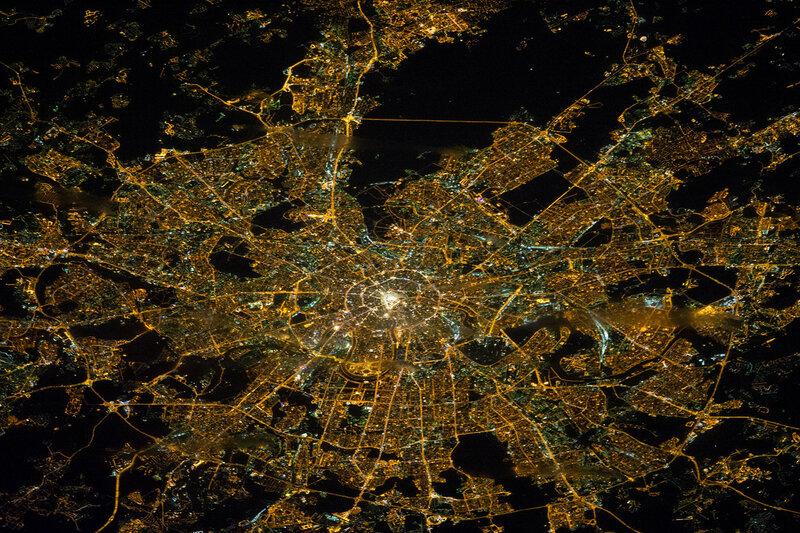 Москва из космоса