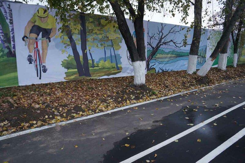 Велодорожка в Марьинском парке