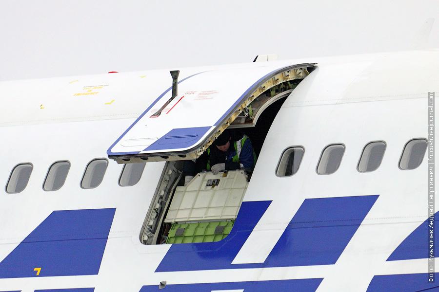 Boeing 747-446 (EI-XLF) «Трансаэро» споттинг в Домодедово