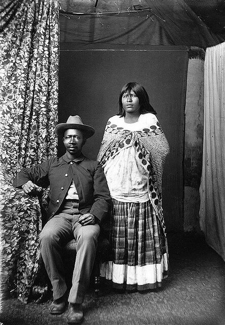 Buffalo Soldier and Native American Wife - 1800