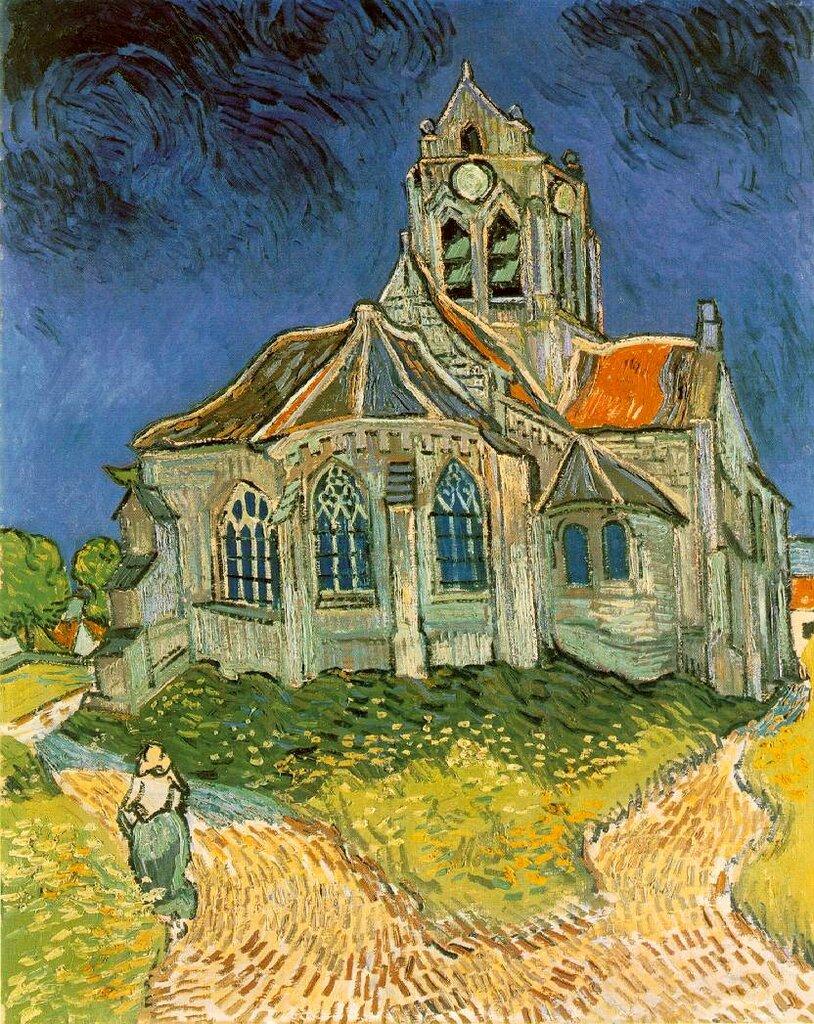 Обои масло, картина, Винсент ван Гог, Деревня Вечером. Разное foto 19