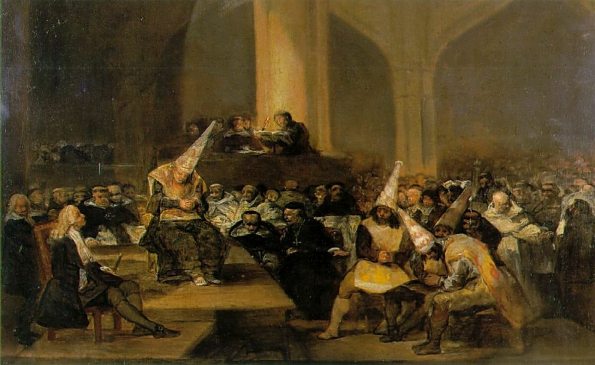 Гойя. Трибунал инквизиции. ок. (1812-1819 )Goya's Scene from an Inquisition