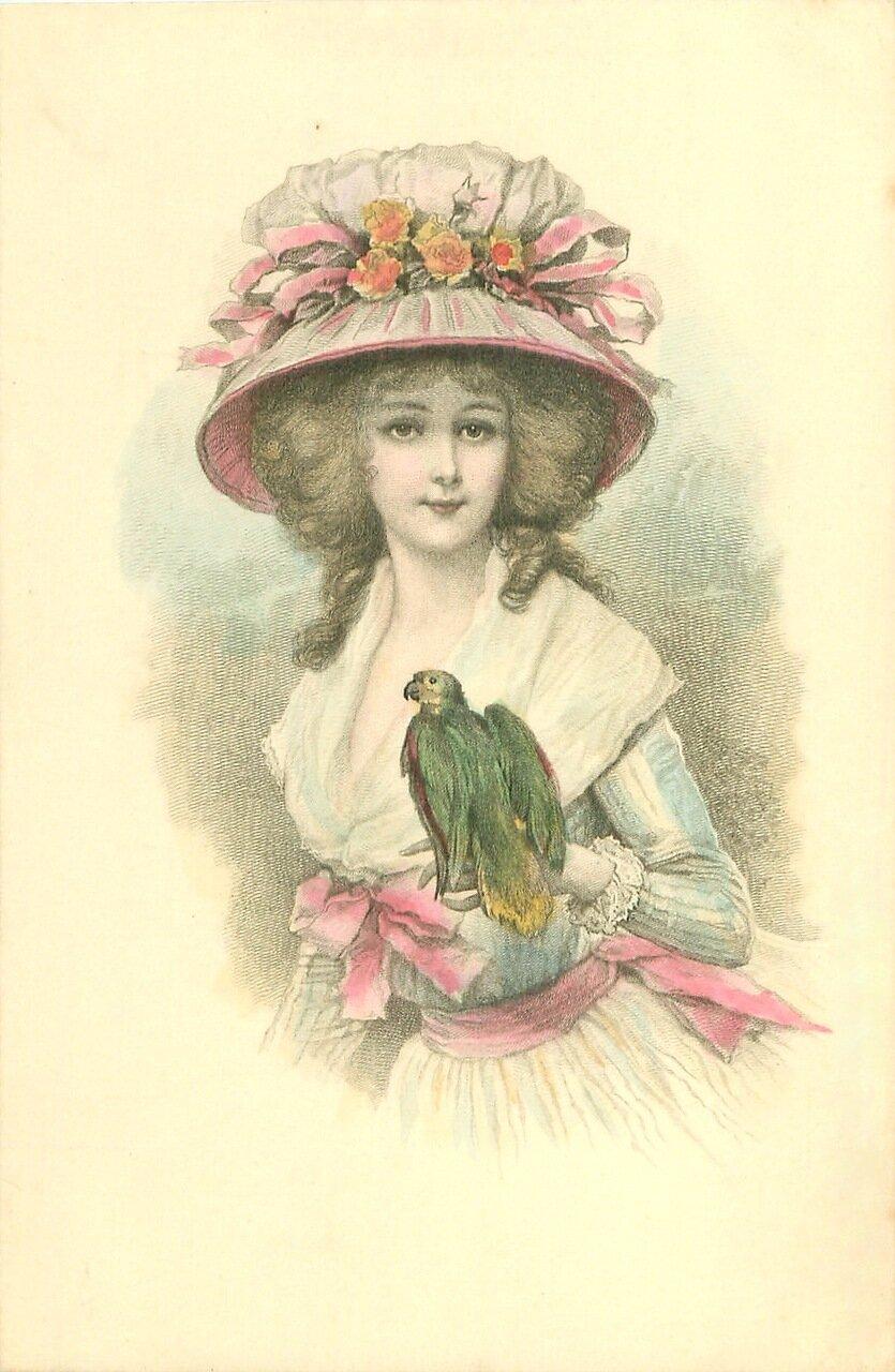 старые открытки шляпки жилище идеально