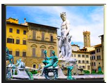 Италия. Флоренция.Fontana del Nettuno-Neptun fontain - near Palazzo Vecchio,Florence, Italy. Фото Ivantagan -Depositphotos