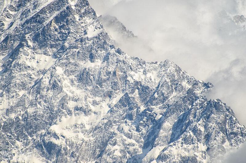 гималайские пики, гряда гор, снежники, непал