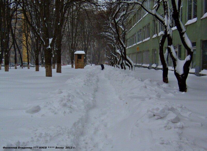 Город Киев. Ул.Жмеринская. 23 марта 2013 г.