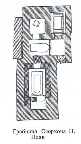 Гробница Осоркона II, план